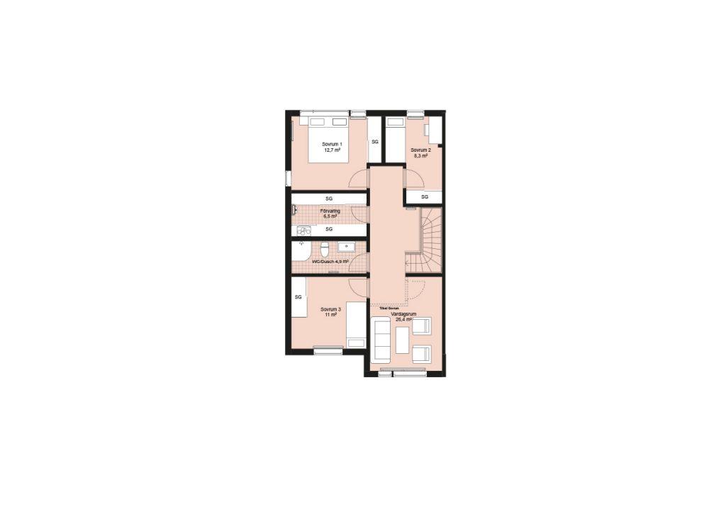 Sisjödal radhus - hus A (1)