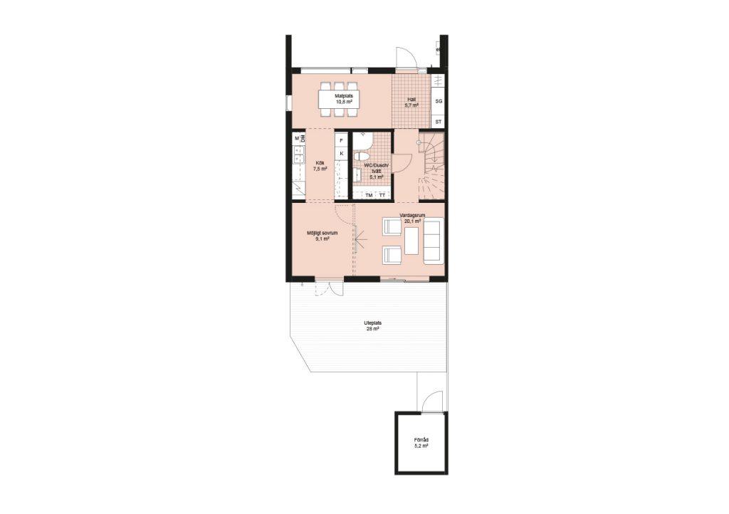 Sisjödal radhus - hus A (2)