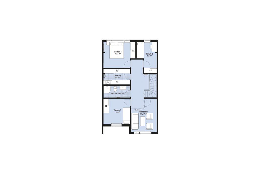 Sisjödal radhus - hus B-K (1)