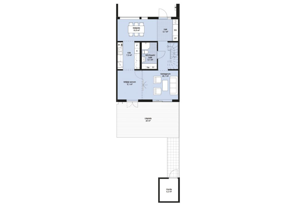 Sisjödal radhus - hus B-K (2)
