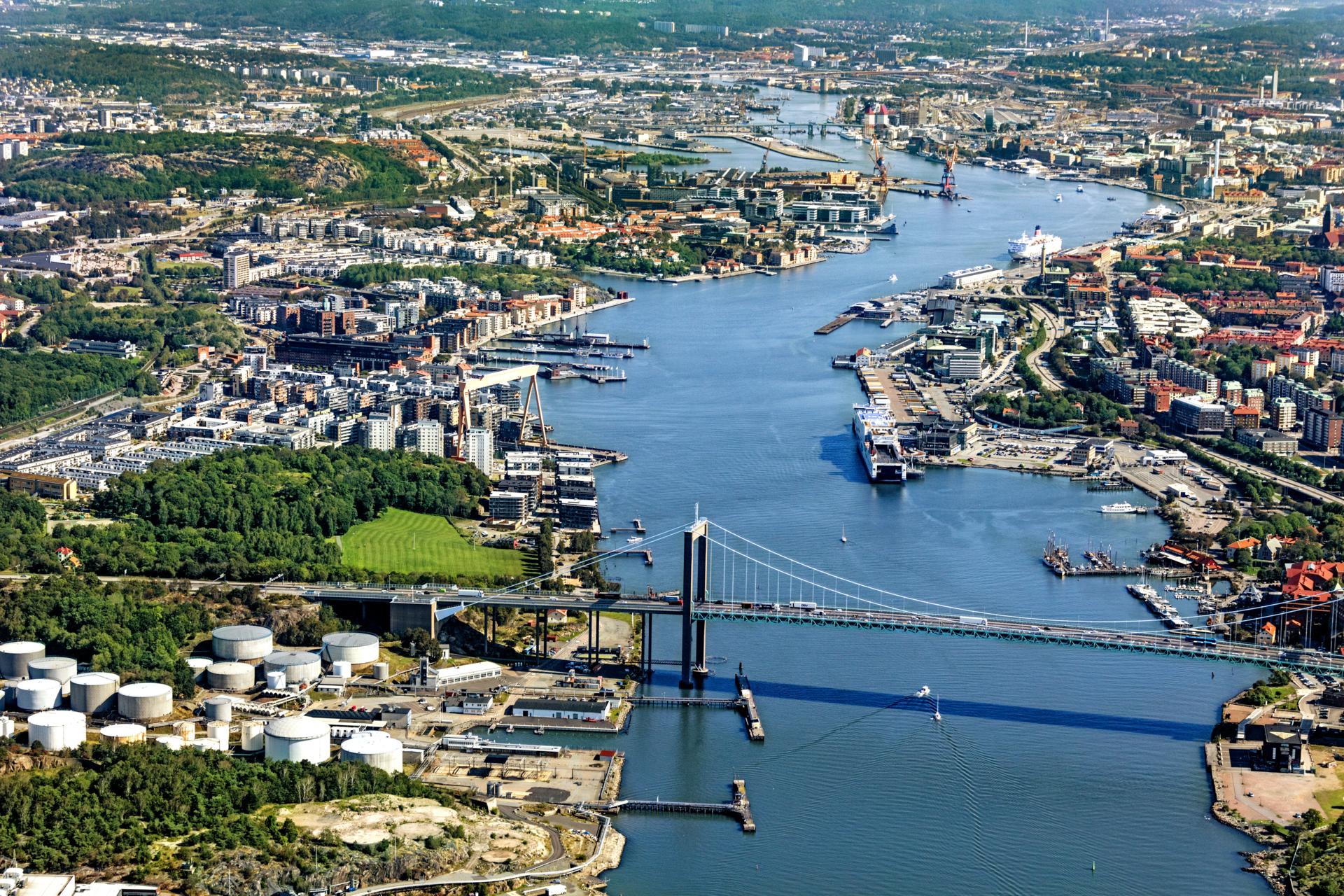 Göteborg stadsvy Älvsborgsbron
