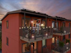 Kvällsbild balkong Krokus